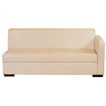 Sofá Jasper Branco com Braço Esquerdo