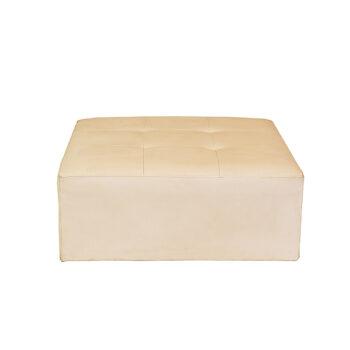 Puff Topázio Quadrado Branco