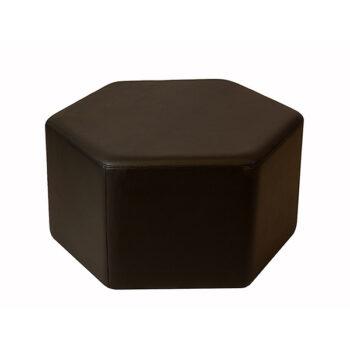 Puff Topázio Hexagonal Preto